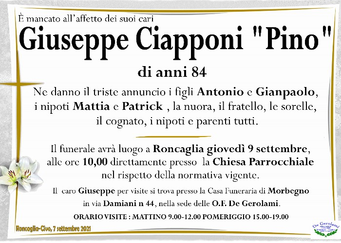 Ciapponi Giuseppe: Immagine Elenchi