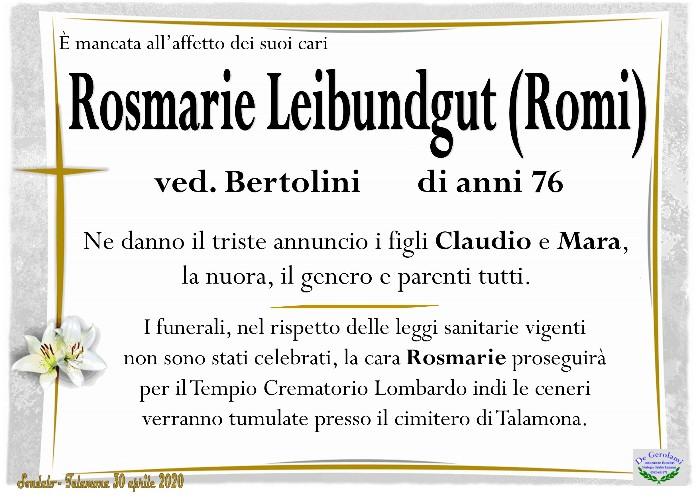 Leibundgut Rosmarie (Romi): Immagine Elenchi