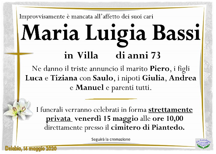 Bassi Maria Luigia: Immagine Elenchi