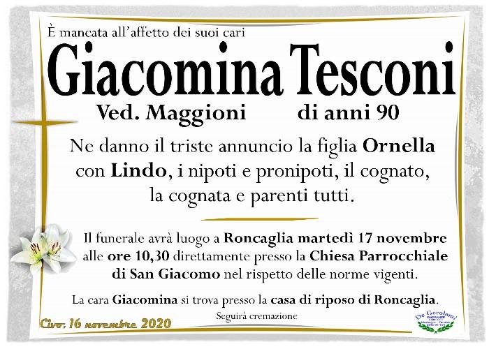 Tesconi Giacomina: Immagine Elenchi