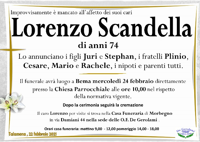 Scandella Lorenzo: Immagine Elenchi