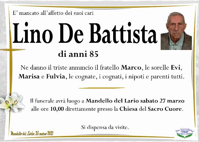 De Battista Lino: Immagine Elenchi